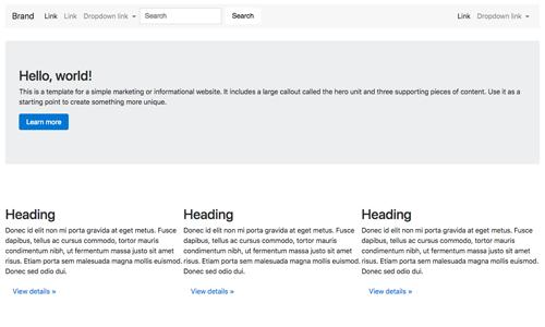 Basic Bootstrap marketing template